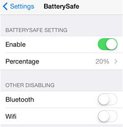 BatterySafe Cydia Tweak
