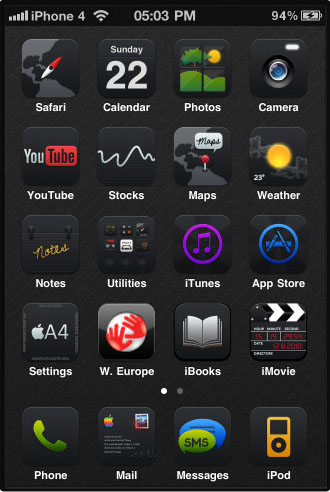 Black UPS Darkness SD Cydia theme