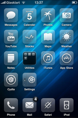 Glaskart HD Cydia theme
