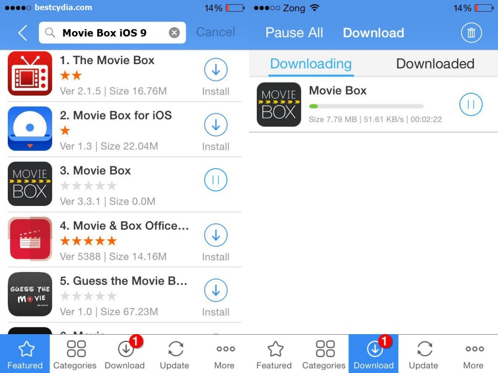 Movie Box iOS 9