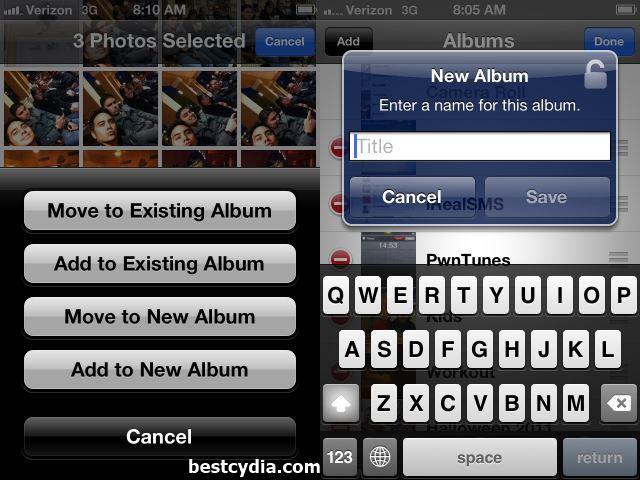 PhotoAlbum+ iOS 9 Cydia tweaks