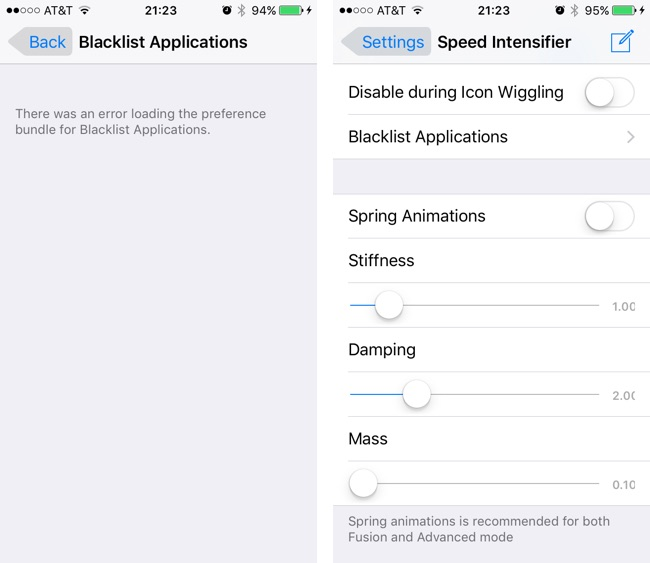 Speed Intensifier Cydia tweaks